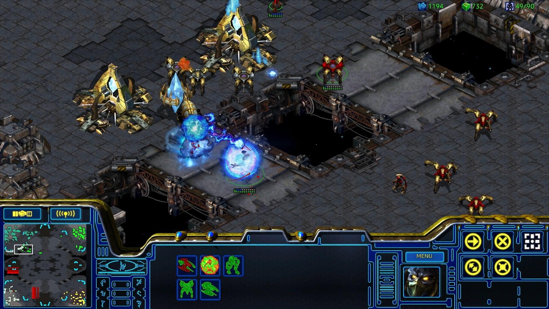 Screenshot de StarCraft: Remastered.